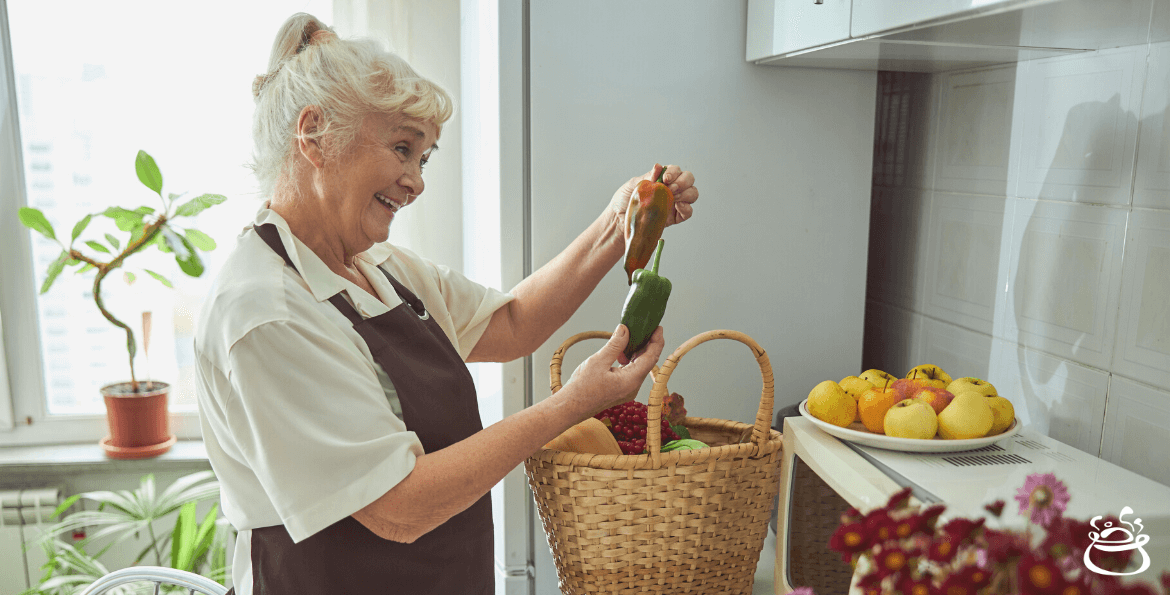 A lady with groceries for cooking - CookinGenie blog for personal chef